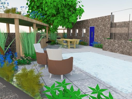 3D aanzicht terras