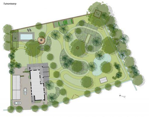 Park-achtige tuin